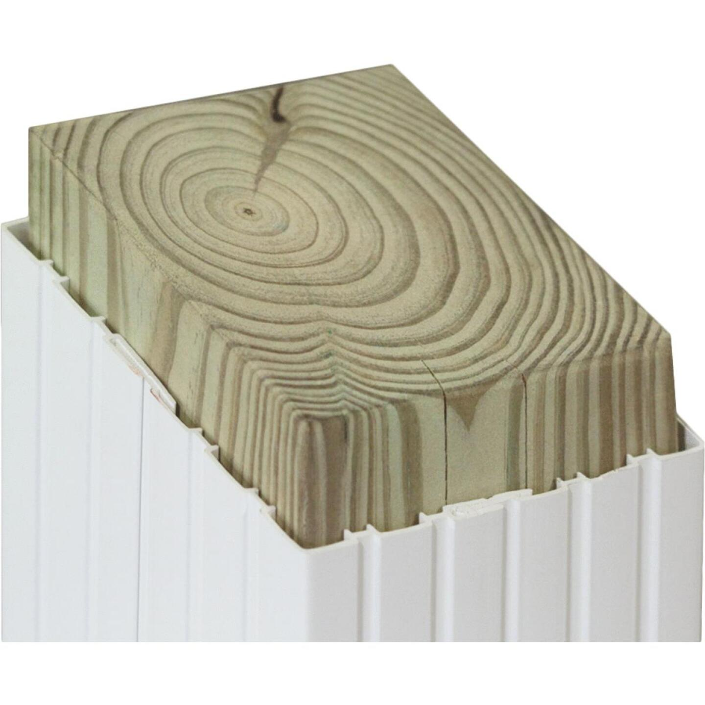 Beechdale 6 In. W x 6 In. H x 102 In. L White PVC Fluted Post Wrap Image 2
