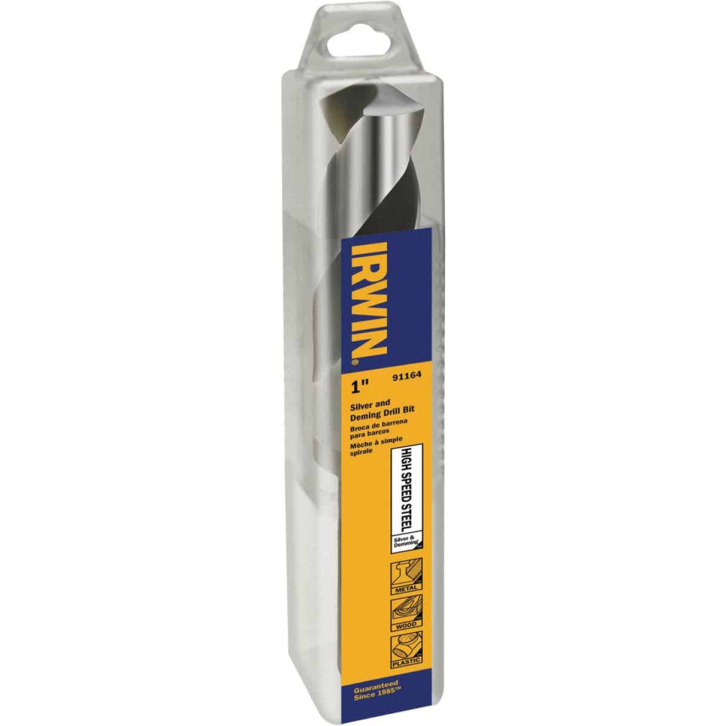 Irwin 1 In. Black Oxide Silver & Deming Drill Bit Image 1