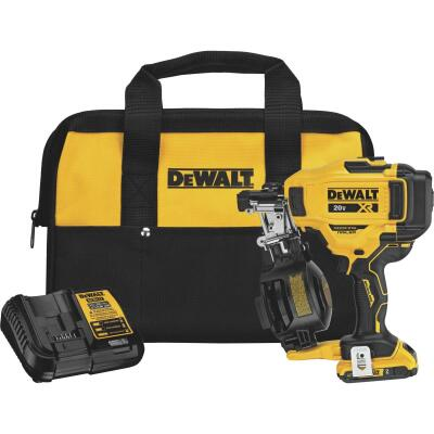 DeWalt 20 Volt MAX Lithium-Ion Brushless 15 Degree 1-3/4 In. Coil Cordless Roofing Nailer Kit