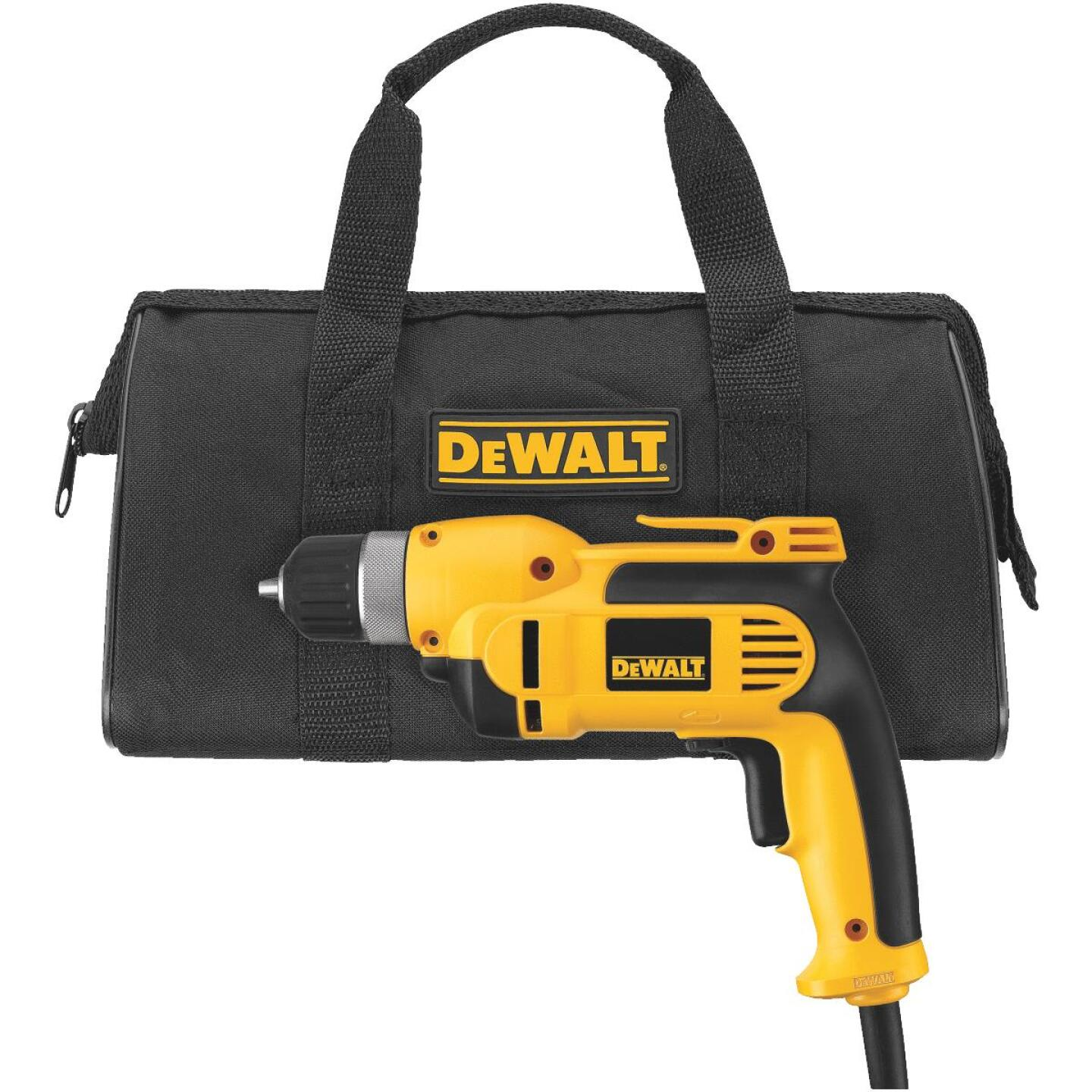DeWalt 3/8 In. 8-Amp Keyless Electric Drill with Case Image 2