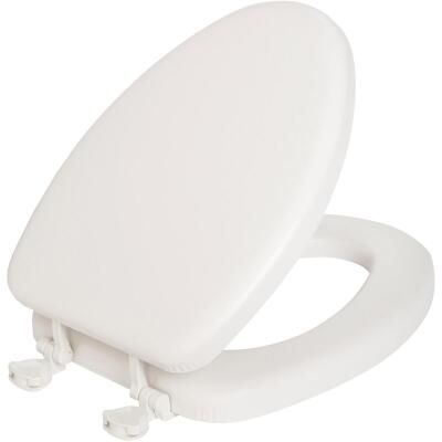 Mayfair Elongated Closed Front Premium Soft White Toilet Seat
