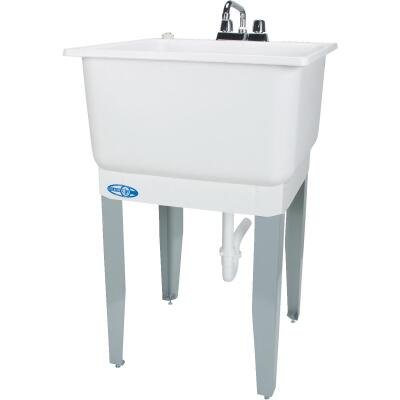 Mustee Utilatub 20 Gallon 23 In. W x 25 In. L Laundry Tub Combo Kit