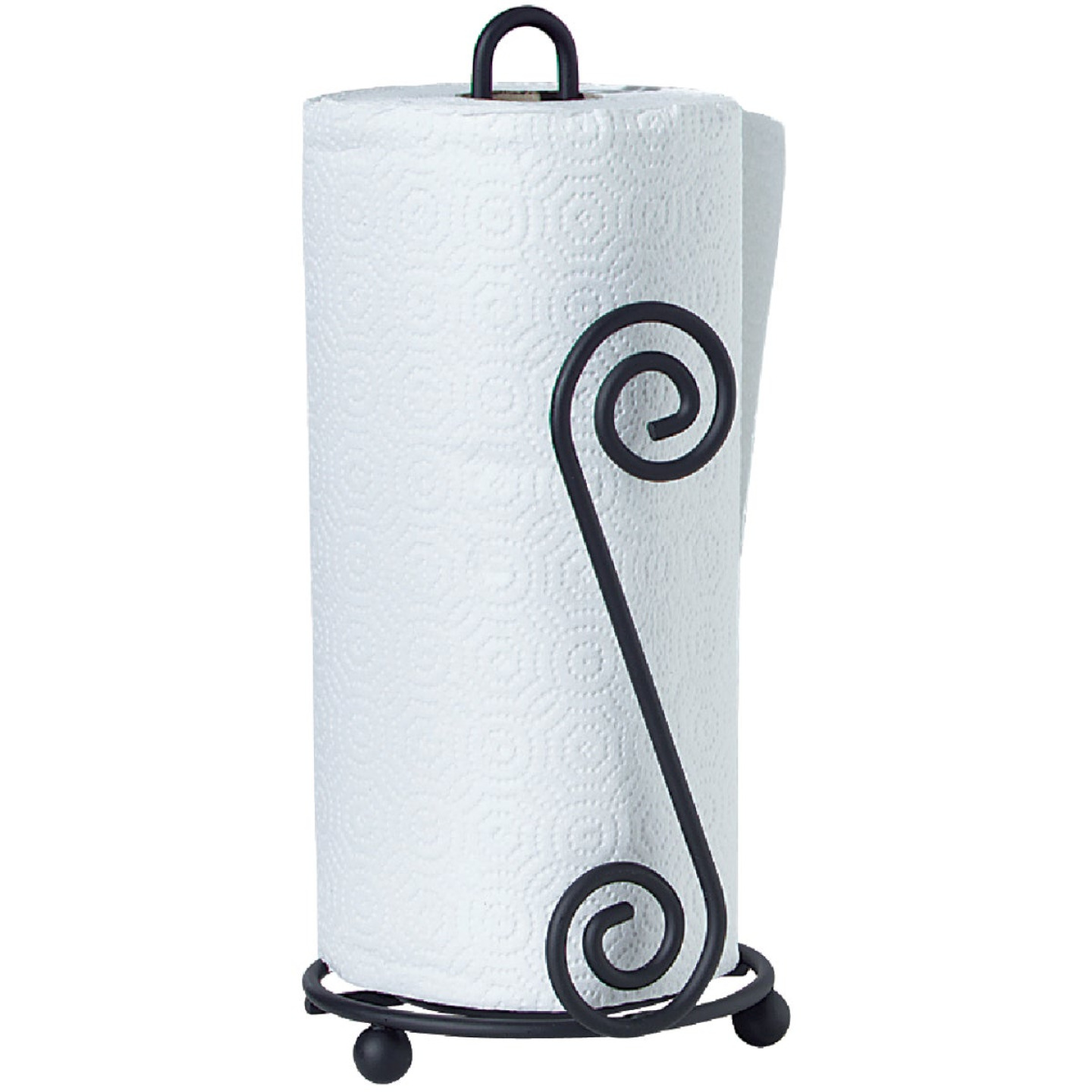 Spectrum Elegant Scroll Countertop Portable Paper Towel Holder Image 2