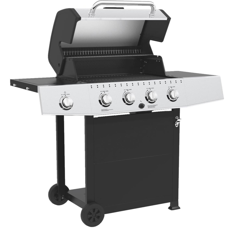 GrillPro 4-Burner Stainless Steel & Black 40,000 BTU LP Gas Grill Image 2